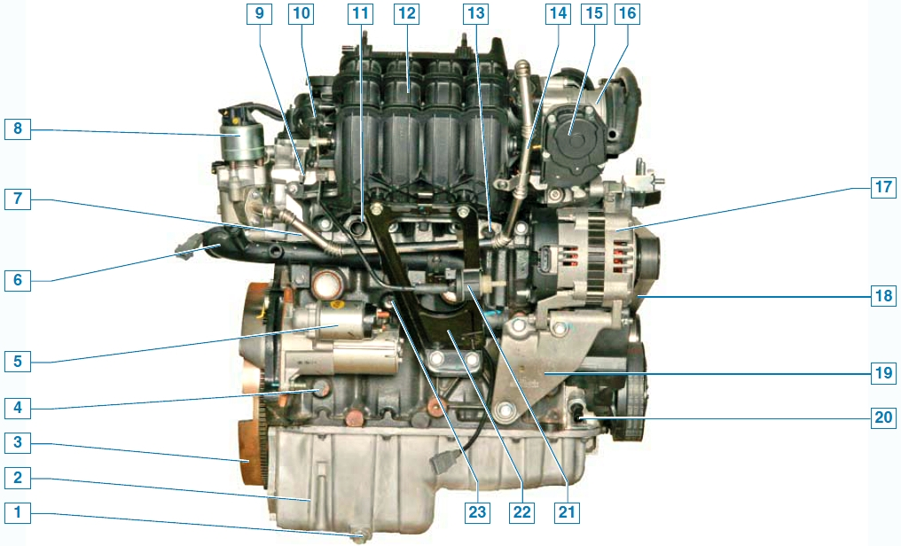 Двигатель Шевроле Лачетти
