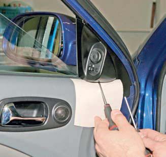 Chevrolet Lacetti Снятие левого правого бокового наружного зеркала заднего вида Шевроле Лачетти