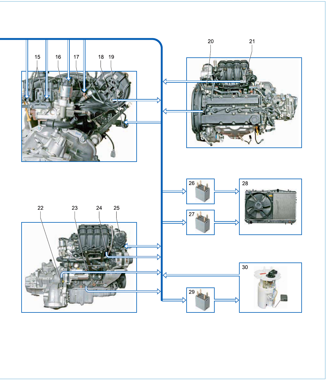 Система управления двигателем Шевроле Лачетти
