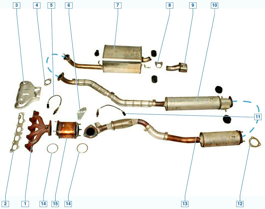 Схема выпуска отработавших газов фото 75